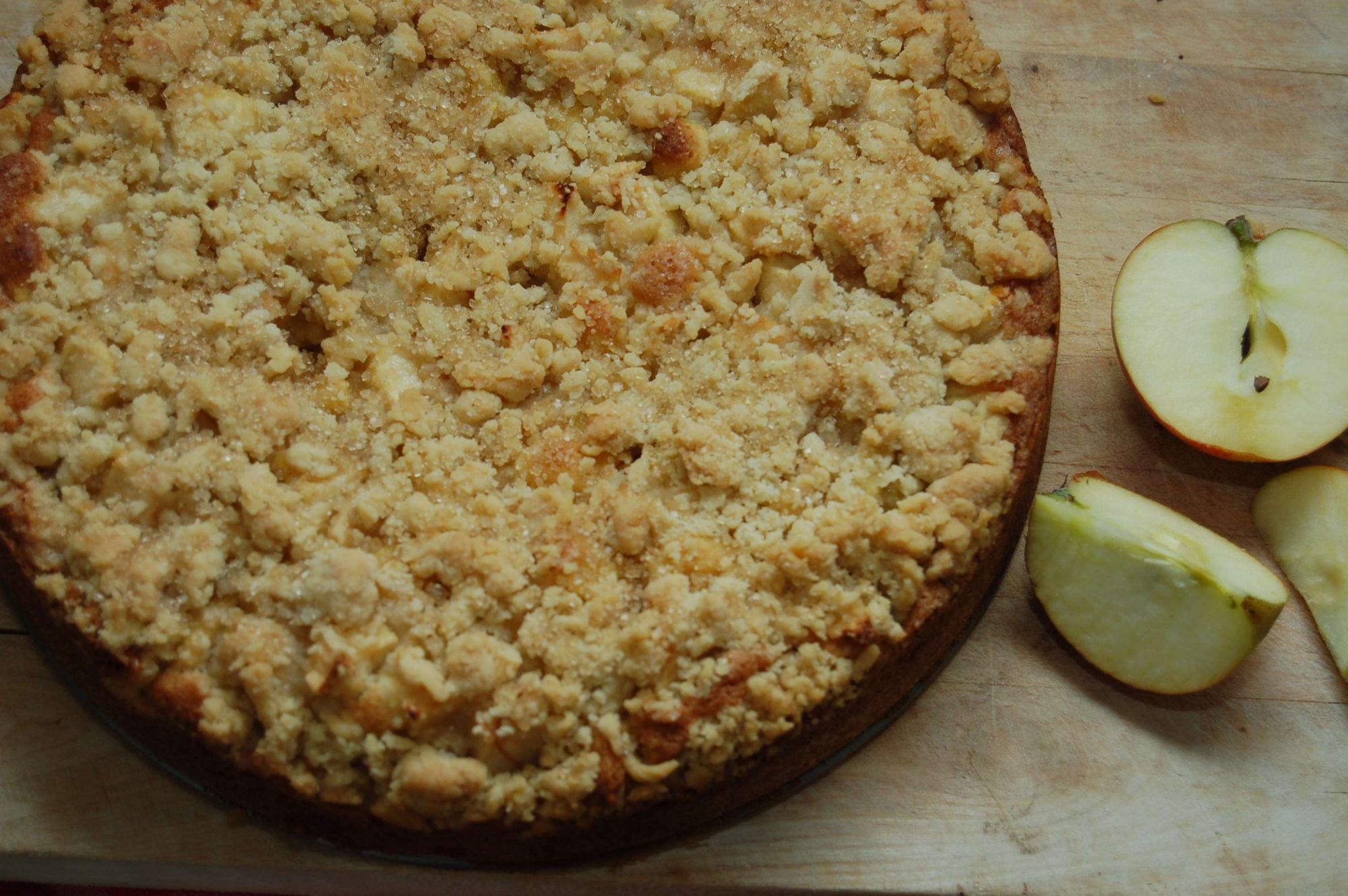 Recipe: Apple and Marzipan Crumble Cake, rated 3.8/5 - 132 votes