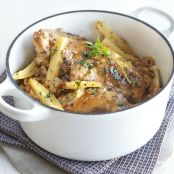 Honey mustard chicken pot with parsnips