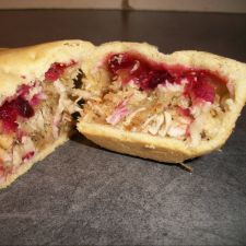 Turkey, Stuffing and Cranberry Pie