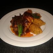 Moroccan marinated chicken with spiced sweet potato puree