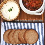 Recipe: Sea salted rye biscuits with aromatic bean & lentil hash, rated 5/5 | Gourmandize UK...