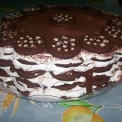 Chocolate Biscuit and Nutella Cake