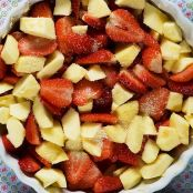 Strawberry and apple crumble - Step 2