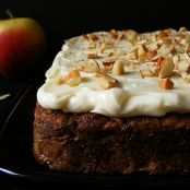 Apple Cardamom Cake with Quince Frosting