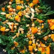 Kale and Chickpeas with Blood Orange