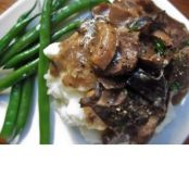 Wild mushroom and Whiskey Stroganoff