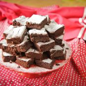 Beetroot chocolate brownies, with a chilli option