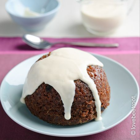 Beetroot, Raisin & Stem Ginger Pudding with Bart Spices