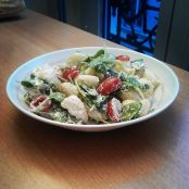 Ricotta, Spinach and Cherry Tomato Pasta Salad