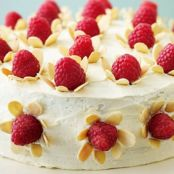 White chocolate almond cake