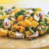 chicken, mango and chilli salad