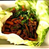 Chinese Hoisin Marinated Beef Lettuce Wraps