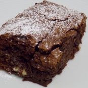 Double chocolate and pecan nut brownies
