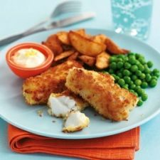 Fish and potato wedges