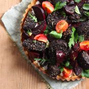 Clonakilty Blackpudding Tart With Roasted Beetroot And Goats Cheese