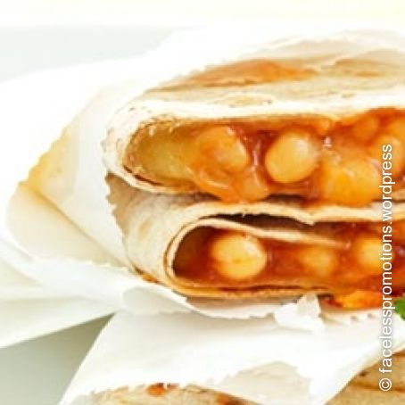Five Spice Chicken Wrap With Beans