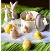 Easter Chocolate Ganache  Bunny, Egg  and Chick Macarons