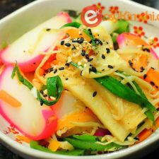 Udon Noodle Stir Fry with Fishcakes and Ginger