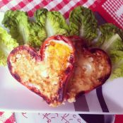 Sausage and egg loveheart breakfast