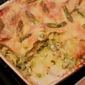 Summer feta and green veg lasagne