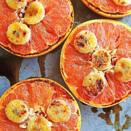 Broiled Grapefruit With Honey And Bananas