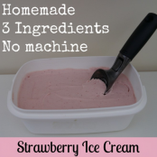 Homemade Strawberry Ice Cream(Without a Machine)