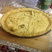 Leek,onion and mushroom pie