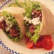 Lamb Kofta's with Pitta Bread and Raita Dip