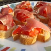 Serrano ham and tomato Bruschettas