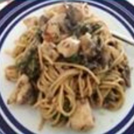 Creamy Mustard Chicken with Wholewheat Spaghetti
