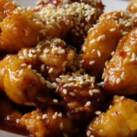 Sesame Chicken With Salad
