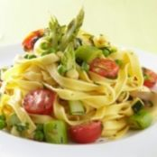 Chilli Garlic Pasta with Asparagus