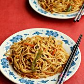 Chinese style Noodles with Vegetables and eggs