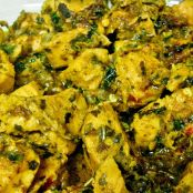 Methi Chicken (Slow cooked chicken in fenugreek leaves)