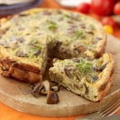Courgette and goat cheese tart