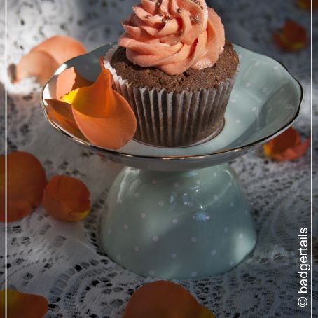 Chocolate & Orange Blossom Cupcakes