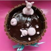 Kids Pigs in Mud Kit-Kat Cake