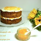 Butternut squash cake with jam