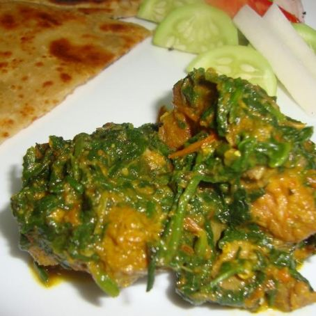 Pakistani Palak Gosht (Meat & Spinach curry)