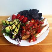 Grilled chicken with Pico de Gallo
