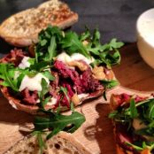 Steak Sandwich with Horseradish Cream and Rocket