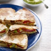 Pink Lady® apple & chicken quesadillas with sour cream & guacamole