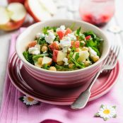 Pink Lady® apple, rocket, chickpea and feta salad