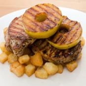 Pork with Caramelised Apple and Mustard Sauce