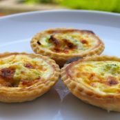mini individual quiches.