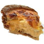 Extra cheesy crumbling quiche