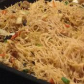 Pumpkin fried rice noodles