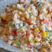 Crab, Corn and Pepper Rice Salad