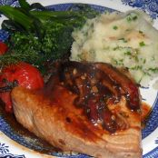 Chilli Salmon Steak with Shiitake mushrooms