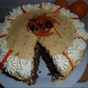 Christmas Carrot Chocolate Nutty Nougat Cake